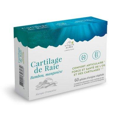 Complément alimentaire à base de cartilage de raie, bambou, manganèse et vitamines C et D pour le confort de vos articulations