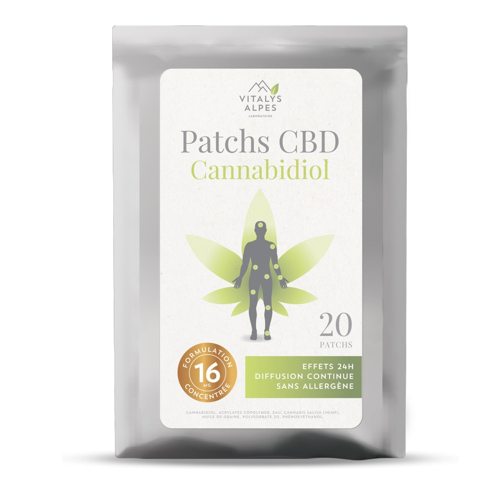 Patch d'application local au CBD Cannabidiol pour le confort articulaire